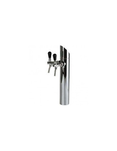 """STM01550 - Beer font """"Prisma"""" in stainless steel with 2 taps"""