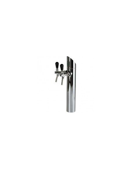 """Beer Tower """"Prisma"""" in stainless steel for 2 taps (purchased separately)"""
