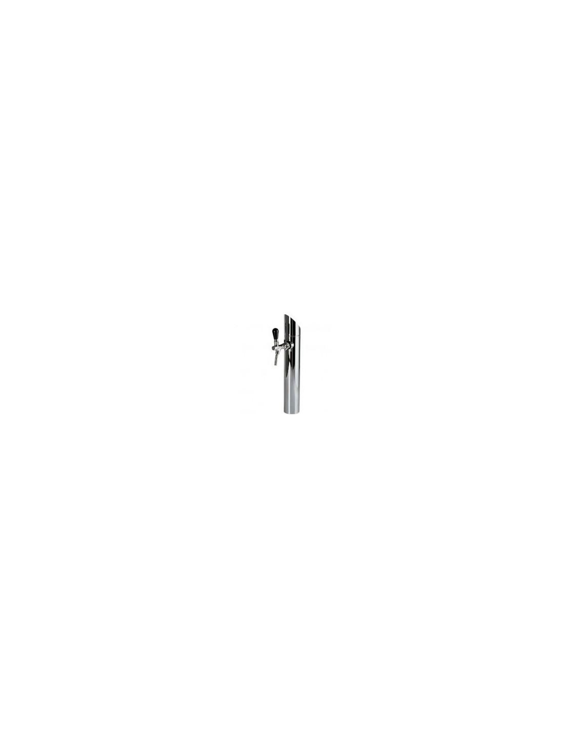 """STM02084 - Tapptorn komplett - Tapptorn """"Prisma"""" i rostfritt stål för en kran (köpes separat)"""