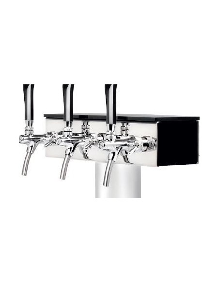 """Tap tower details """"T GRAND x3"""" black high gloss acrylic"""