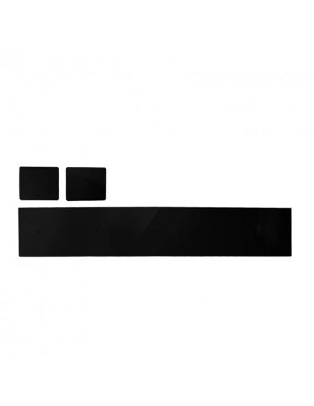 """Tapptornsdetaljer """"T GRAND x5"""" svart högblank akryl"""