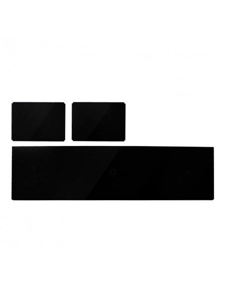"""Tapptornsdetaljer """"T GRAND x3"""" svart högblank akryl"""
