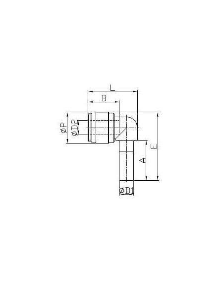 FluidFit HLJ snabbkoppling vinkelkoppling (tum)