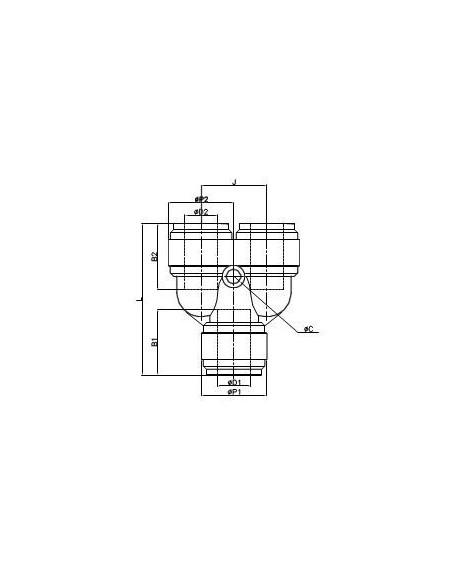 FluidFit HUY snabbkoppling Y-koppling (tum)