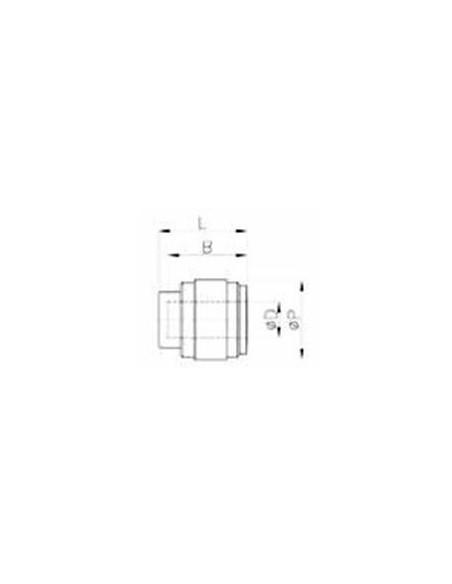 HPF-I - Pluggar och ändstopp - FluidFit HPF snabbkoppling ändstopp (tum)