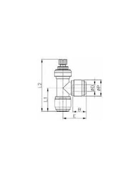 HSLU-I - FluidFit HSLU flödesregleringsventil i vinkel (tum)