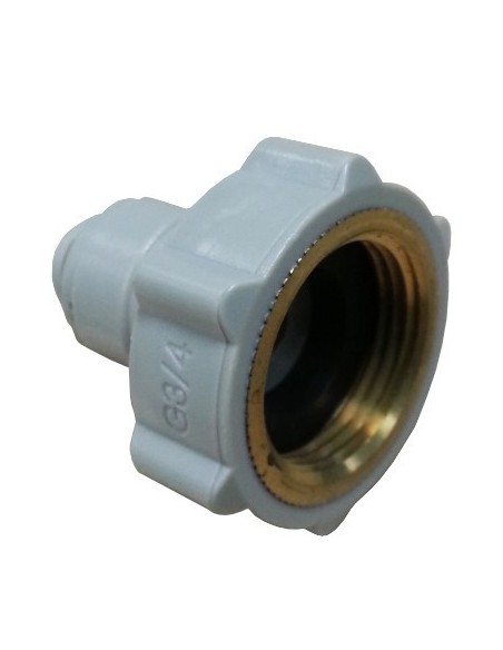 Fluidfit HCF-NH-I push-fit connection with female thread NH in brass (inch)