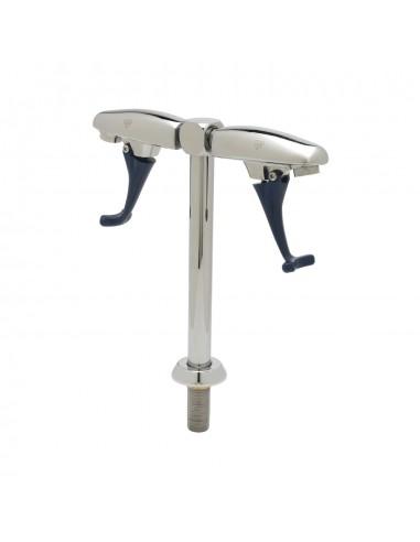 UPP00159 - Tapptorn / glasfyllare (20 cm serveringshöjd) med två tapphuvuden för vatten med tryckarm