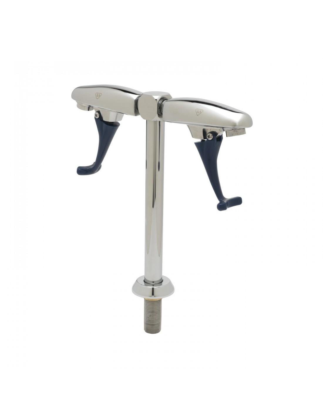UPP00159 - Tapptorn komplett - Vattensifon / glasfyllare (20 cm serveringshöjd) med två tapphuvuden för vatten med tryckarm