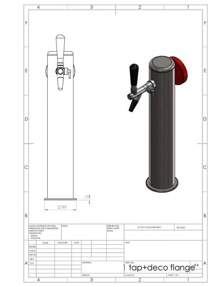UPP00162 - Tapptorn Balder med 1 tappkran med kompensator och belysning