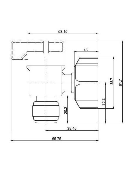 HESV-I - Kranar och ventiler - FluidFit HESV Avstängningskran med gänga BSPP (tum)