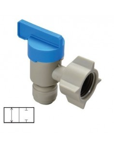 HESV-I - FluidFit HESV elbow shut-off valve with female thread BSPP (inch)