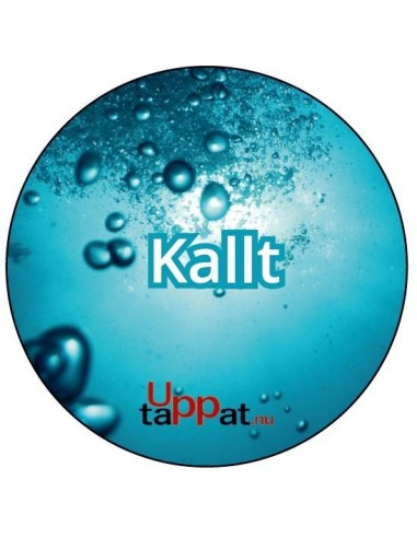 """UPP00178 - Välvd dekal med texten """"Kallt"""" ⌀81 mm"""