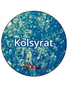 """UPP00179 - Välvd dekal med texten """"Kolsyrat"""" ⌀81 mm"""
