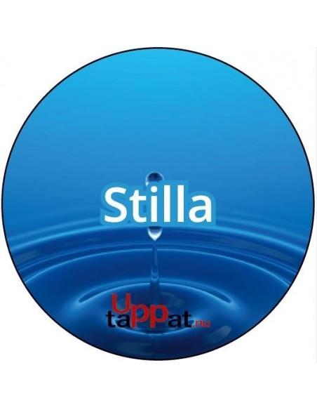 """Välvd dekal med texten """"Stilla"""" ⌀81 mm"""