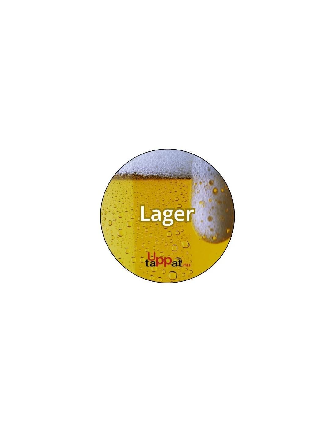"""UPP00182 - Välvd dekal med texten """"Lager"""" ⌀81 mm"""