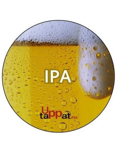 """UPP00183 - Välvd dekal med texten """"Ipa"""" ⌀81 mm"""