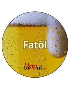 """UPP00185 - Välvd dekal med texten """"Fatöl"""" ⌀81 mm"""