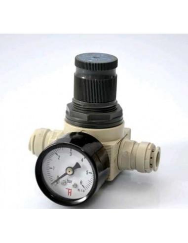 """POL05364 - Vattenregulator 1-6 bar anslutningar 3/8"""" (9,5mm)"""