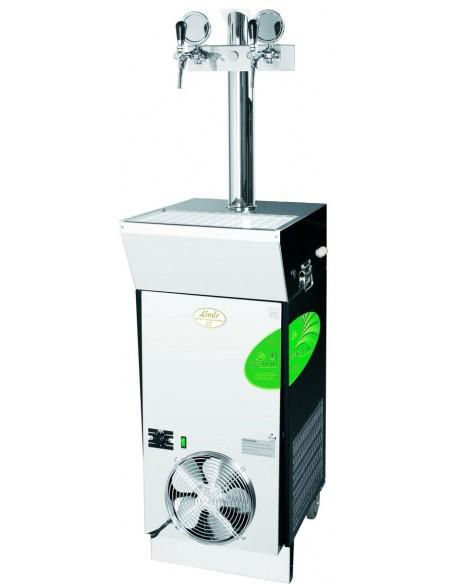 """CWP00485 - Vätskekylda fatölskylare med isbank - Lindr CWP 300 """"green line"""" mobil kylare med 2 kranar"""