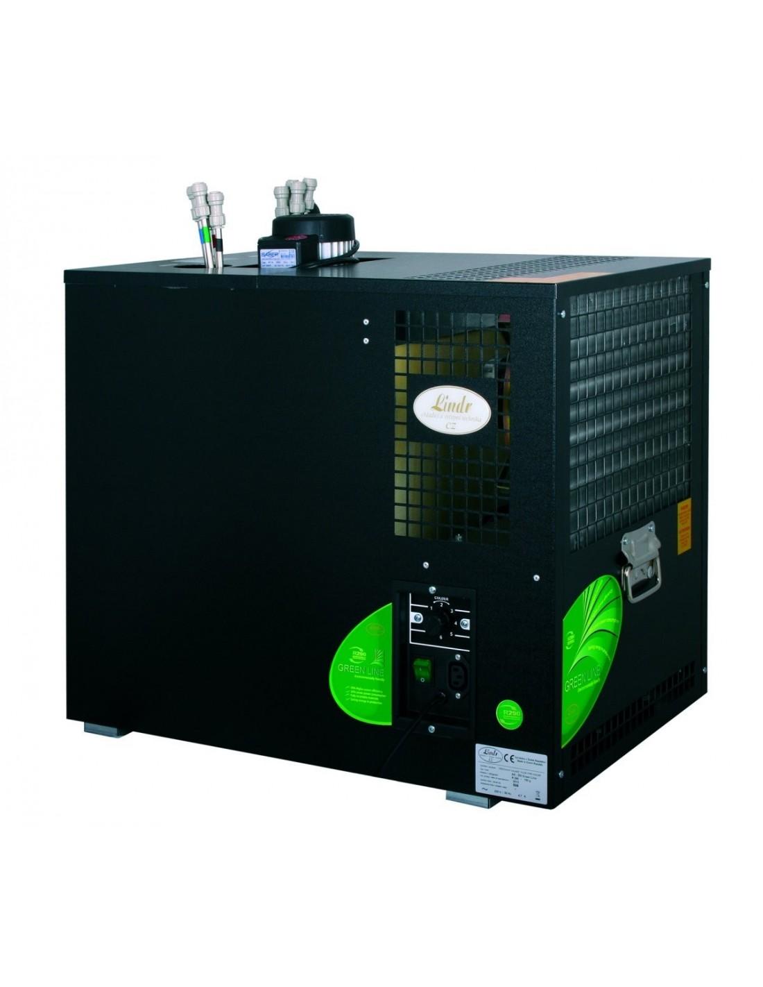 """VCH02107 - Vätskekylda fatölskylare med isbank - Lindr AS-200 """"green line"""" 8 kylslingor + snabbkopplingar"""