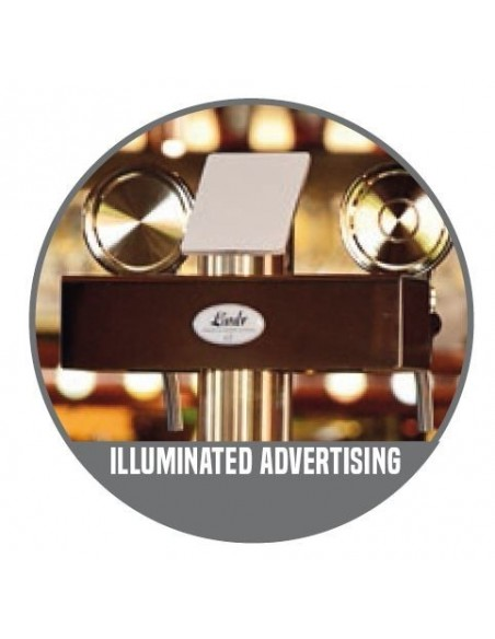 """STV00885 - Beer font """"T3"""" in stainless steel with 3 taps + medallions"""