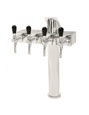 """STV01794 - Beer font """"T4"""" in stainless steel with 4 taps"""