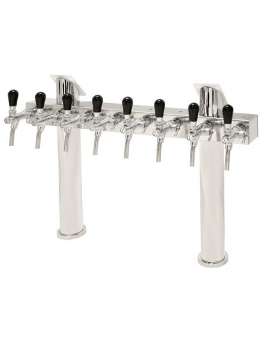 "STV01798 - Beer font ""T8"" in stainless steel with 5 taps"
