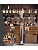 """STV01800 - Tapptorn """"T4"""" i rostfritt med 4 kranar på en 5-kransarmatur"""