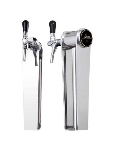 """Beer font """"Naked"""" in stainless steel with 1 tap"""