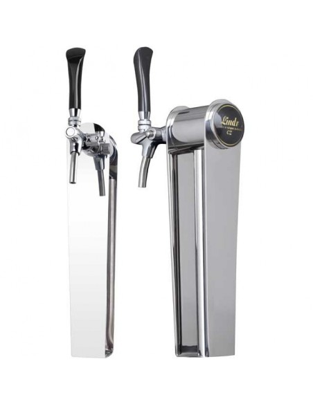 """Beer font """"Naked"""" in stainless steel with 1 tap - prepared for light"""
