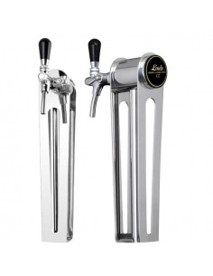 """Beer font """"Naked one"""" in stainless steel with 1 tap"""