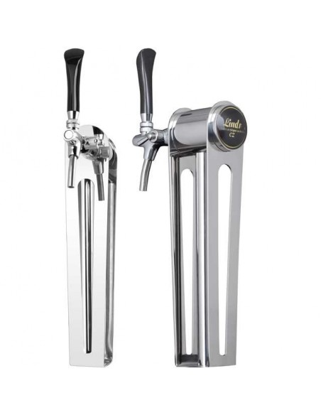 """Beer font """"Naked one"""" in stainless steel with 1 tap - prepared for light"""