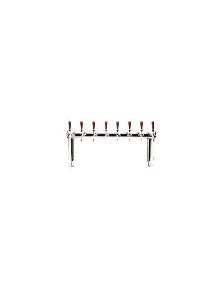 """STV02137 - Tapptorn """"Naked Cold Bridge"""" i rostfritt stål för 8 tappkranar (kranar köpes separat)."""