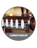 """STV02137 - Beer font """"Naked Cold Bridge"""" in stainless steel for 8 beer taps (taps are purchased separately)."""