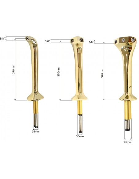 """STM01696 - Beer font """"Thor"""" in classic Cobra design in PVD for 3 taps (taps are purchased separately)"""