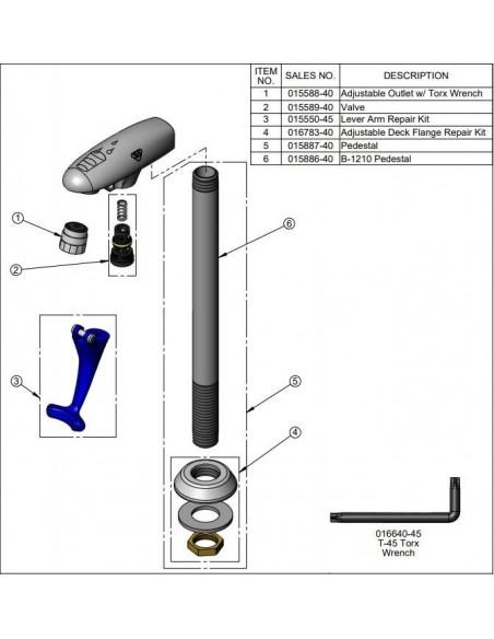 Adjustable Outlet w/ Hex
