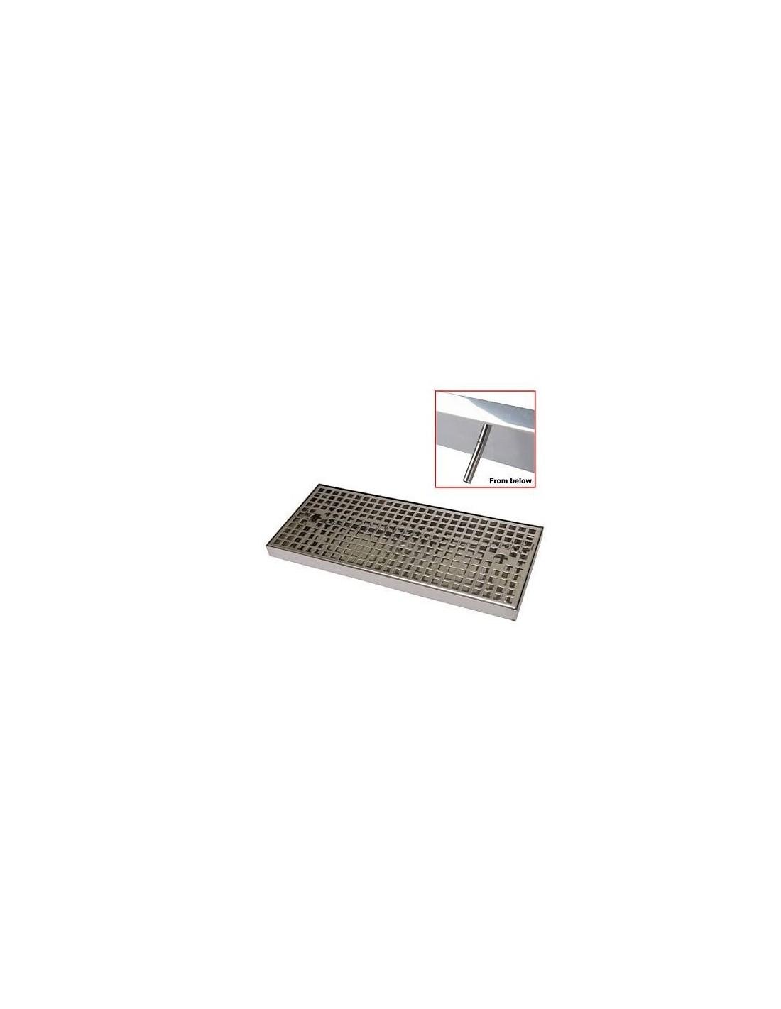 UPP00210 - Spillbrickor - Spillbricka i rostfritt 500x170x25mm med avlopp