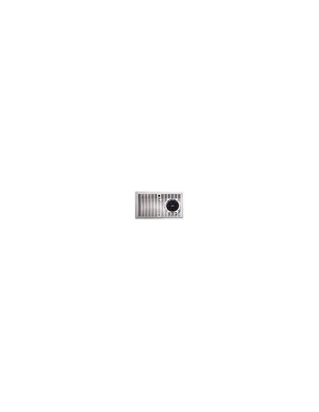 VYR02227 - Spillbricka rostfritt stål 400x220x30 mm med glastvätt