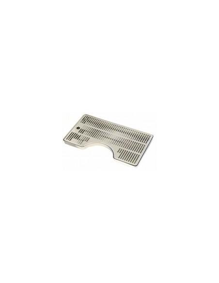 Spillbricka i rostfritt 400x220 mm D130