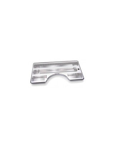 ODM01006 - Drip tray in stainless steel 500x250 mm with D170 cutout
