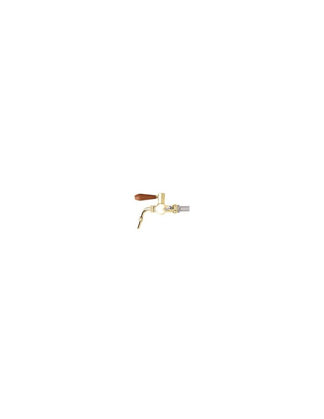 """KOH02111 - Beer tap """"Baroque"""" with PVD finish 5/8-35 mm, normal spout"""