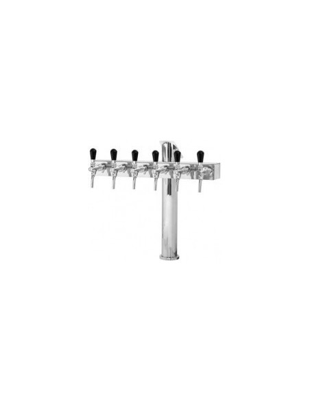 "Beer font ""T6"" in stainless steel with 6 taps"
