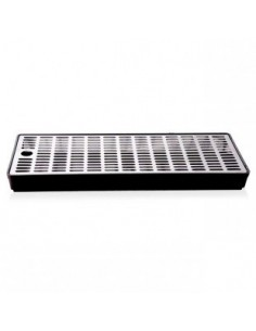 Drip tray in plastic with grate in stainless steel 400x150x35 mm