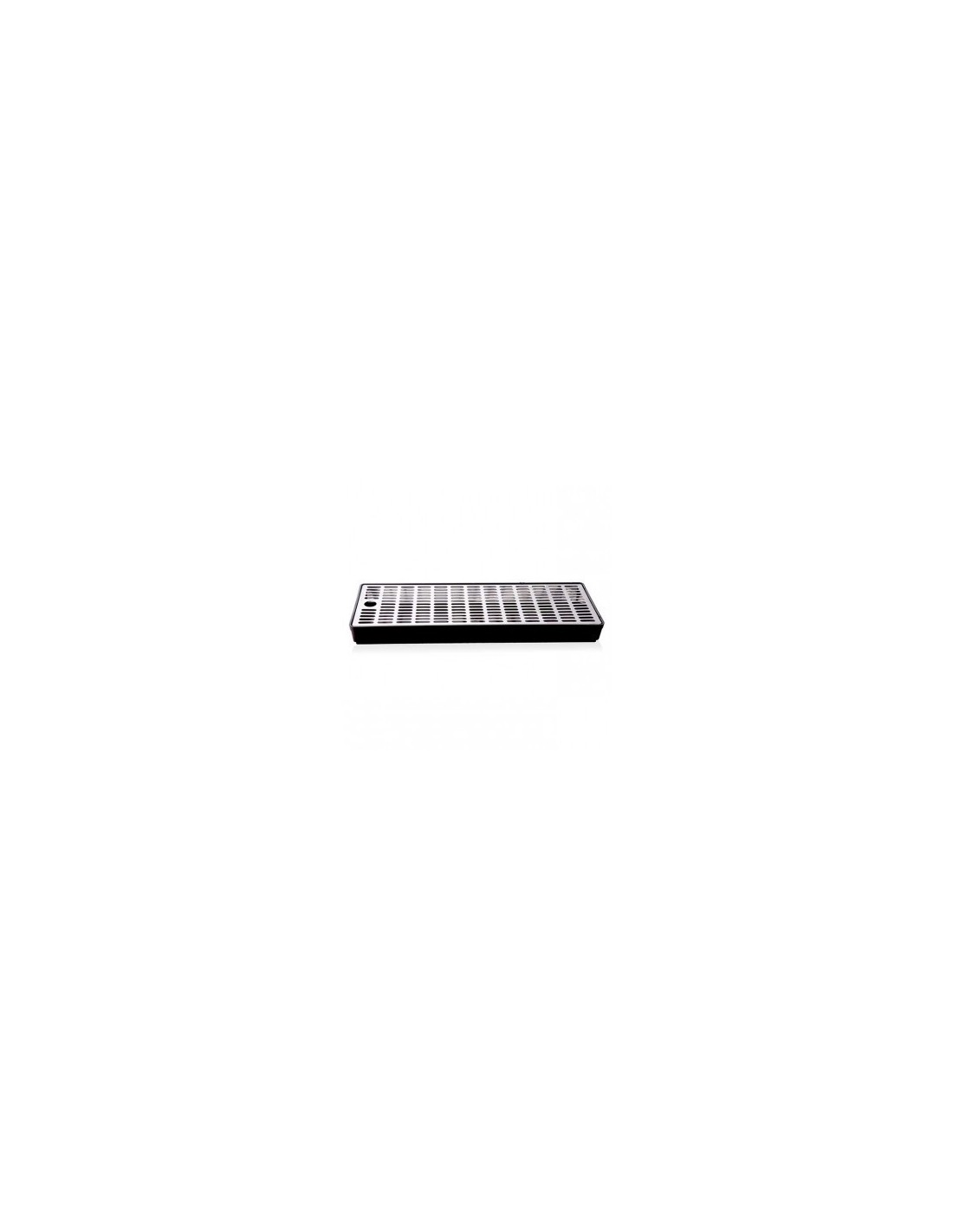 VYR02273 - Drip tray in plastic with grate in stainless steel 400x150x35 mm