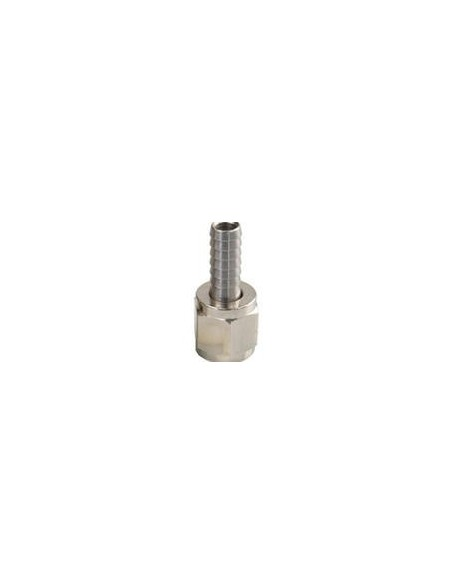 """7/16"""" nut + straight 8 mm tube barb connector"""