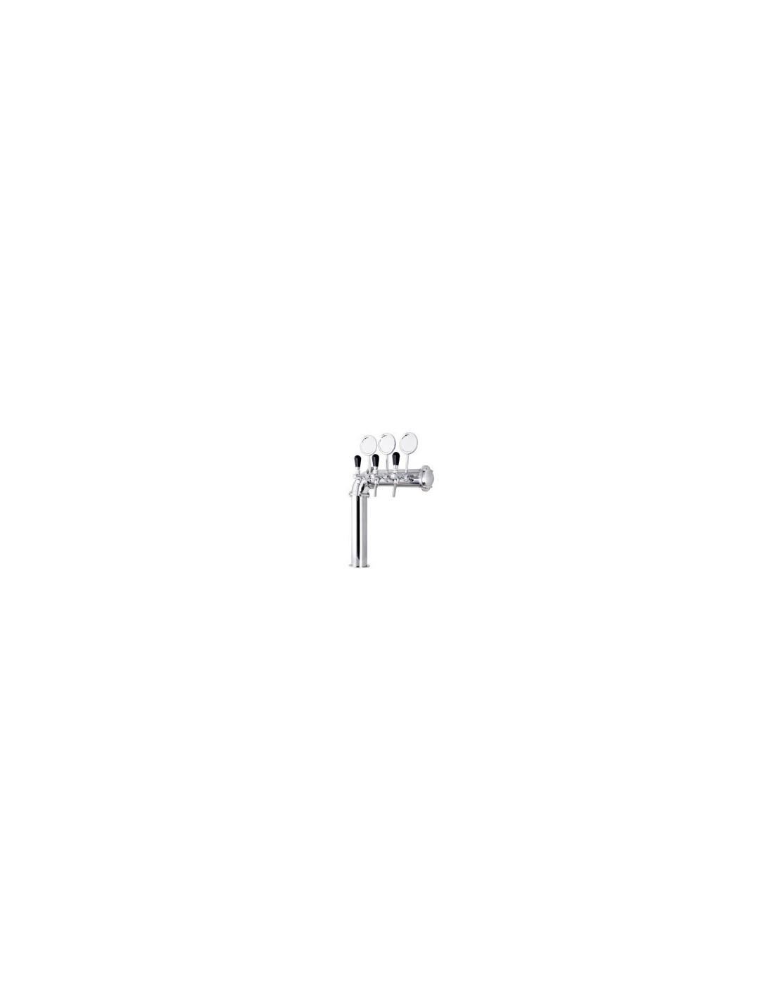"""STM02122 - Tapptorn komplett - Tapptorn """"L"""" i rostfritt stål med 3 kranar + märkbrickor"""