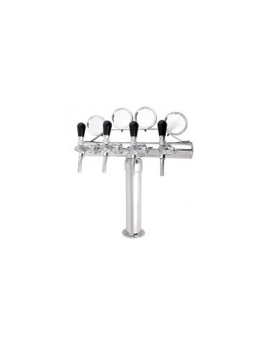 """STM02063 - Beer font """"ARCO"""" in chrome with 4 taps + medallions"""